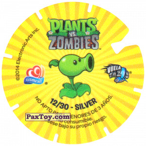PaxToy.com - 12 Chomper (Сторна-back) из Gamesa: Plants Vs. Zombies TAZOS