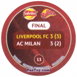 PaxToy.com - 13 2005 Istanbul (Сторна-back) из Sabritas: Football Champions League 2019