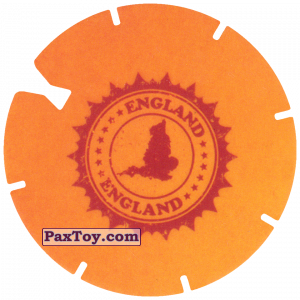 PaxToy.com - 13 Yellow Tazo - Logo England из Cheetos: Spider-Man Lejos De Casa (CLASSIC TAZOS)