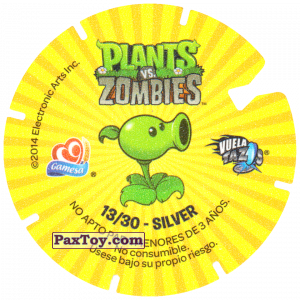 PaxToy.com - 13 I Love brains (Сторна-back) из Gamesa: Plants Vs. Zombies TAZOS