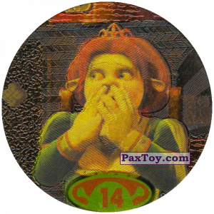 PaxToy.com  Фишка / POG / CAP / Tazo 14 Fiona из Cheetos: Shrek 2 (50 штук)