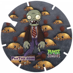 PaxToy.com  Фишка / POG / CAP / Tazo 14 Zombi and Potato Mine из Gamesa: Plants Vs. Zombies TAZOS
