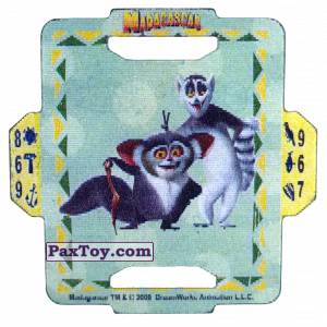 PaxToy.com  Q-Bitazo, Карточка / Card 15 Maurice and King Julien из Estrella: Madagascar (TAZOS / Q-Bitazos)