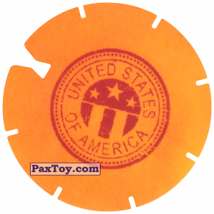 PaxToy.com - 15 Yellow Tazo - Logo USA из Doritos: Spider-Man Lejos De Casa (CLASSIC TAZOS)