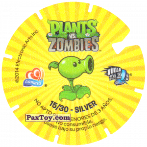 PaxToy.com - 15 Football Zombie (Сторна-back) из Gamesa: Plants Vs. Zombies TAZOS