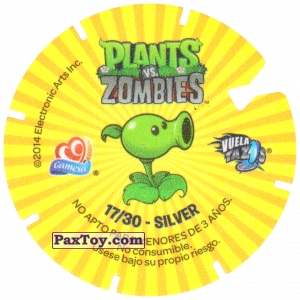 PaxToy.com - 17 Jack-in-the-Box Zombie (Сторна-back) из Gamesa: Plants Vs. Zombies TAZOS