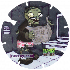 PaxToy.com - 19 Newspaper Zombie из Gamesa: Plants Vs. Zombies TAZOS