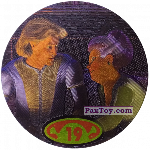 PaxToy.com  Фишка / POG / CAP / Tazo 19 Prince Charming & Fairy Godmother из Cheetos: Shrek 2 (50 штук)