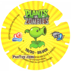 PaxToy.com - 19 Newspaper Zombie (Сторна-back) из Gamesa: Plants Vs. Zombies TAZOS