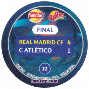 PaxToy.com - 22 2014 Lisbon (Сторна-back) из Sabritas: Football Champions League 2019