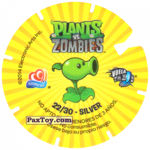 PaxToy.com - 22 Football Zombie (Сторна-back) из Gamesa: Plants Vs. Zombies TAZOS
