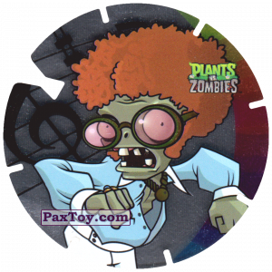 PaxToy.com  Фишка / POG / CAP / Tazo 23 Dancing Zombie из Gamesa: Plants Vs. Zombies TAZOS