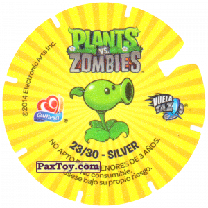 PaxToy.com - Фишка / POG / CAP / Tazo 23 Dancing Zombie (Сторна-back) из Gamesa: Plants Vs. Zombies TAZOS