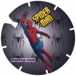 PaxToy.com  Фишка / POG / CAP / Tazo 24 Spider-Man is flying on the web (MEGA TAZO) из Doritos: Spider-Man Lejos De Casa (MEGA TAZOS)