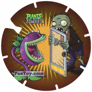PaxToy.com - 25 Chomper and Screen Door Zombie из Gamesa: Plants Vs. Zombies TAZOS