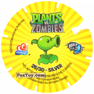 PaxToy.com - 25 Chomper and Screen Door Zombie (Сторна-back) из Gamesa: Plants Vs. Zombies TAZOS