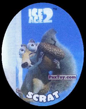 PaxToy.com - 25 Scrat (Голографическая) из Cheetos: Ice Age 2
