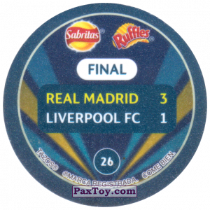 PaxToy.com - 26 2018 Kyiv (Сторна-back) из Sabritas: Football Champions League 2019