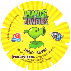 PaxToy.com - 26 Dark Zombie (Сторна-back) из Gamesa: Plants Vs. Zombies TAZOS
