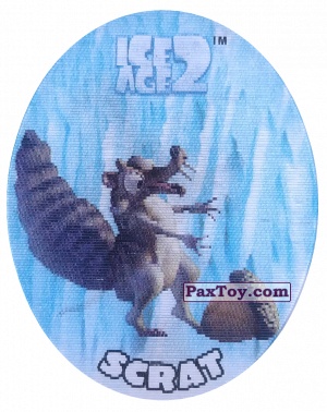 PaxToy.com - 27 Scrat (Голографическая) из Cheetos: Ice Age 2