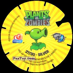 PaxToy.com - 27 Zombie Yeti (Сторна-back) из Gamesa: Plants Vs. Zombies TAZOS