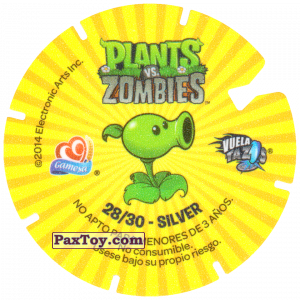 PaxToy.com - 28 Repeater (Сторна-back) из Gamesa: Plants Vs. Zombies TAZOS