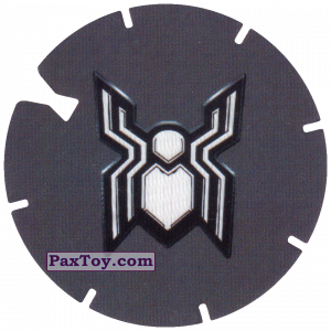 PaxToy.com - 29 Logo Dark Spider-Man (MEGA TAZO) из Doritos: Spider-Man Lejos De Casa (MEGA TAZOS)