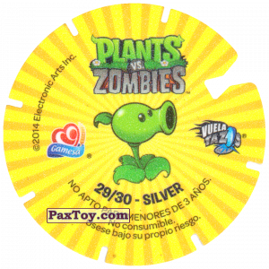 PaxToy.com - 29 Crazy Dave (Сторна-back) из Gamesa: Plants Vs. Zombies TAZOS