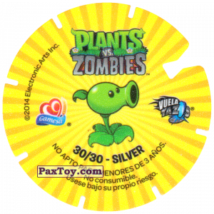 PaxToy.com - 30 Dr. Zomboss and Zombots (Сторна-back) из Gamesa: Plants Vs. Zombies TAZOS