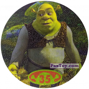 PaxToy.com  Фишка / POG / CAP / Tazo 35 Shrek из Cheetos: Shrek 2 (50 штук)
