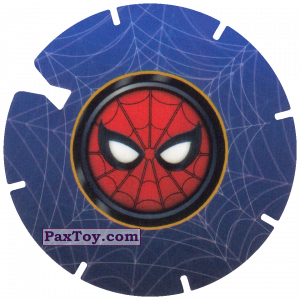 PaxToy.com - 39 SPIDER-MAN LOGO RED FACE (MEGA TAZO) из Doritos: Spider-Man Lejos De Casa (MEGA TAZOS)