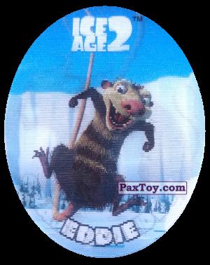PaxToy.com  Фишка / POG / CAP / Tazo 40 Scrat (Голографическая) из Cheetos: Ice Age 2