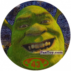 PaxToy.com  Фишка / POG / CAP / Tazo 43 Shrek из Cheetos: Shrek 2 (50 штук)