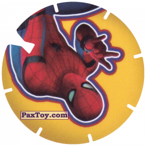 PaxToy.com  Фишка / POG / CAP / Tazo 48 Spider-Man is coming down the web из Cheetos: Spider-Man Lejos De Casa (CLASSIC TAZOS)