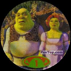 PaxToy 50 tazos 1 Shrek & Fiona