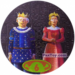 PaxToy 50 tazos 6 King Harold & Queen Lillian