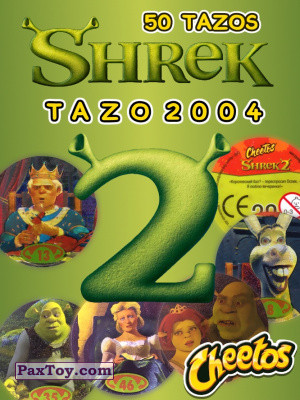 PaxToy Cheetos   Shrek 2   50 tazos tax logo 2