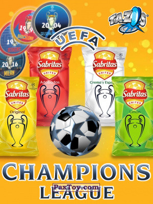 PaxToy Sabritas Football Champions League 2019 logo tax