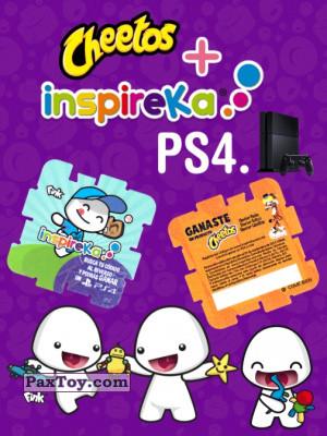 PaxToy Cheetos: Inspireka - Busca tu codigo al reverso y podras ganar un PS4 (TAZOS / Q-Bitazos)