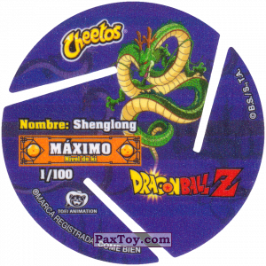 PaxToy.com - 001 One Star Dragon Ball (Сторна-back) из Cheetos: Dragon Ball Z XFERAS Tazos