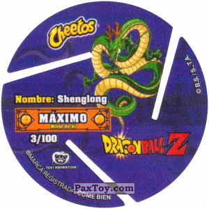 PaxToy.com - 003 Three Star Dragon Ball (Сторна-back) из Cheetos: Dragon Ball Z XFERAS Tazos