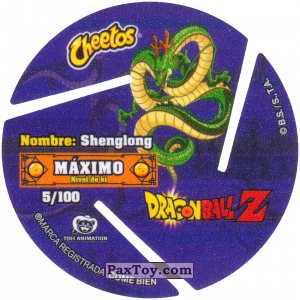 PaxToy.com - 005 Five Star Dragon Ball (Сторна-back) из Cheetos: Dragon Ball Z XFERAS Tazos