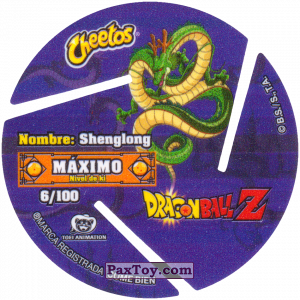 PaxToy.com - 006 Six Star Dragon Ball (Сторна-back) из Cheetos: Dragon Ball Z XFERAS Tazos