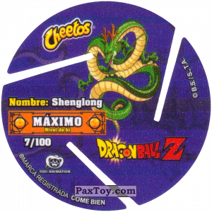 PaxToy.com - 007 Seven Star Dragon Ball (Сторна-back) из Cheetos: Dragon Ball Z XFERAS Tazos