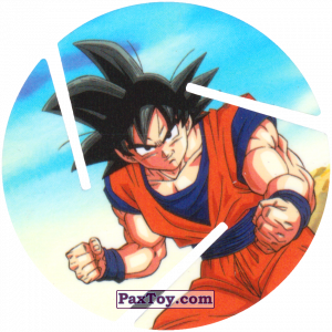 PaxToy.com - 008 Son Goku - Preparing to attack из Sabritas: Dragon Ball Z XFERAS Tazos
