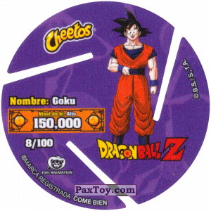 PaxToy.com - 008 Son Goku - Preparing to attack (Сторна-back) из Sabritas: Dragon Ball Z XFERAS Tazos