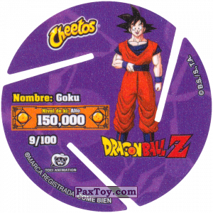 PaxToy.com - 009 Son Goku - Blast (Сторна-back) из Cheetos: Dragon Ball Z XFERAS Tazos