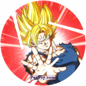 PaxToy.com - 011 Super Saiyan Goku - Preparing to attack из Cheetos: Dragon Ball Z XFERAS Tazos