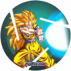 PaxToy.com - 013 Super Saiyan Goku - Blast из Sabritas: Dragon Ball Z XFERAS Tazos