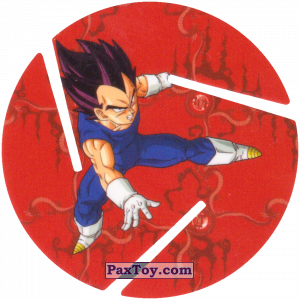 PaxToy.com - 015 Vegeta - Preparing to attack из Sabritas: Dragon Ball Z XFERAS Tazos